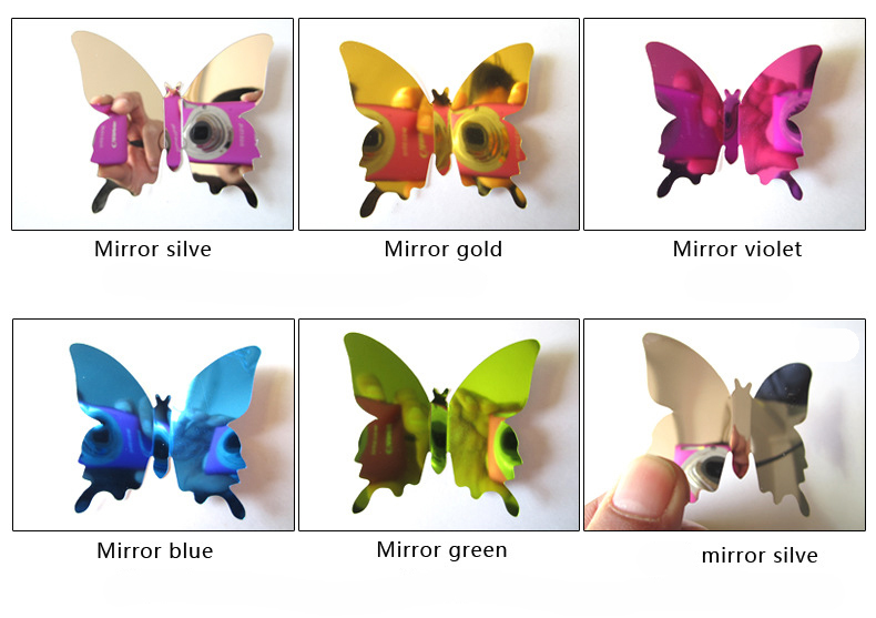 Sliver Butterfly Wall Stickers 4