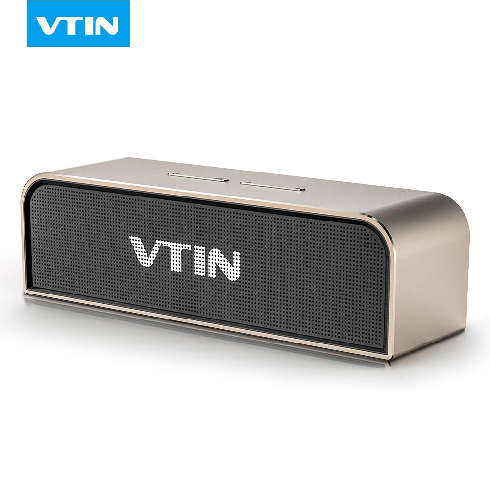 Prix pour VTIN portable Sans Fil Bluetooth Haut-Parleur Stéréo son construction dans la MIC boîte en aluminium 20 W stéréo haut-parleur avec 5200 MAH batterie haut-parleur