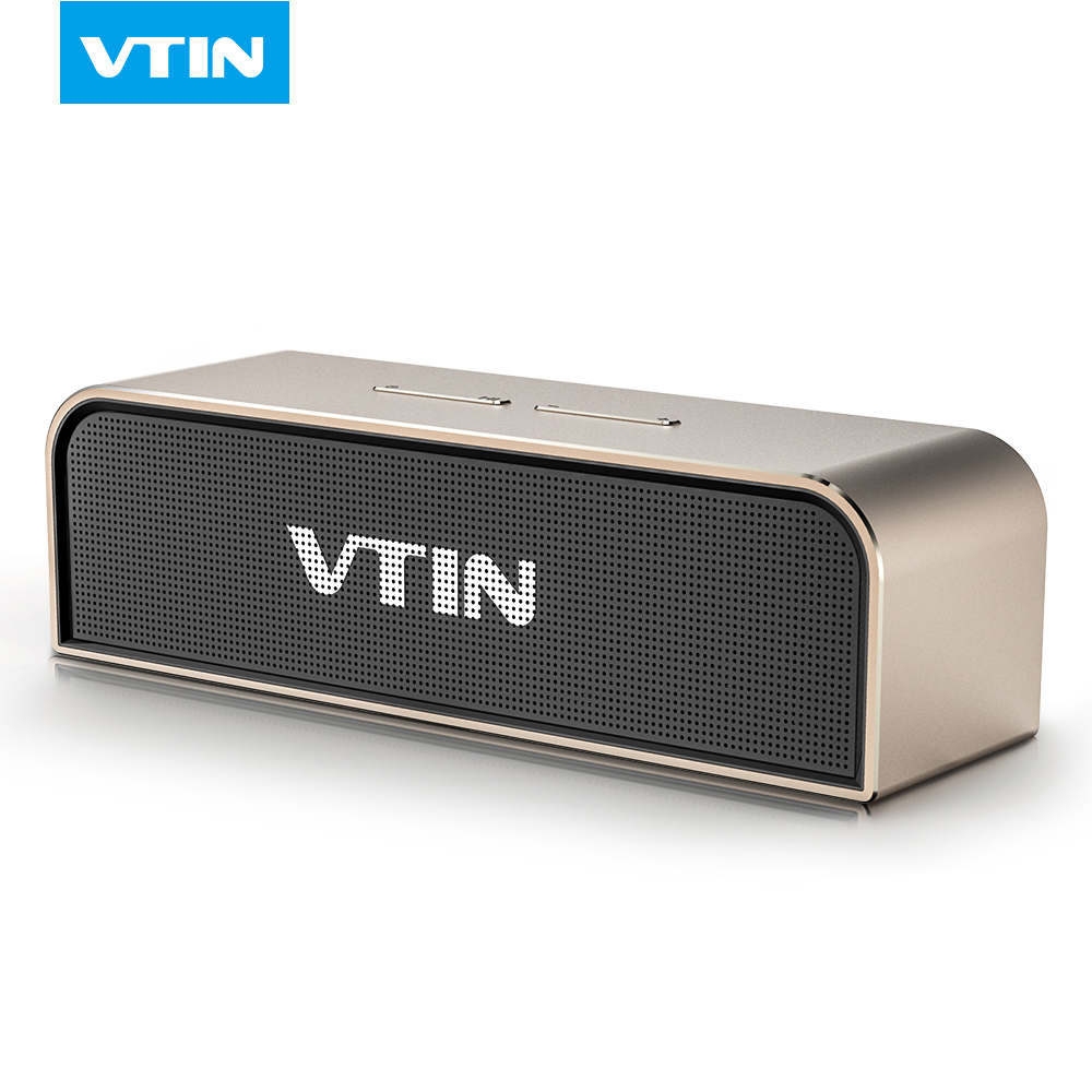 ФОТО VTIN portable Wireless Bluetooth Stereo Speaker 20W sound aluminium box Passive Radiator with 5200MAH battery speaker