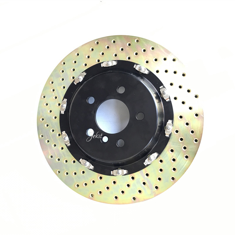 Jekit Big brake rotor 370*36mm drilled disc with big floating center bell for AMG 6 big brake caliper for Mercedes Benz CLS63