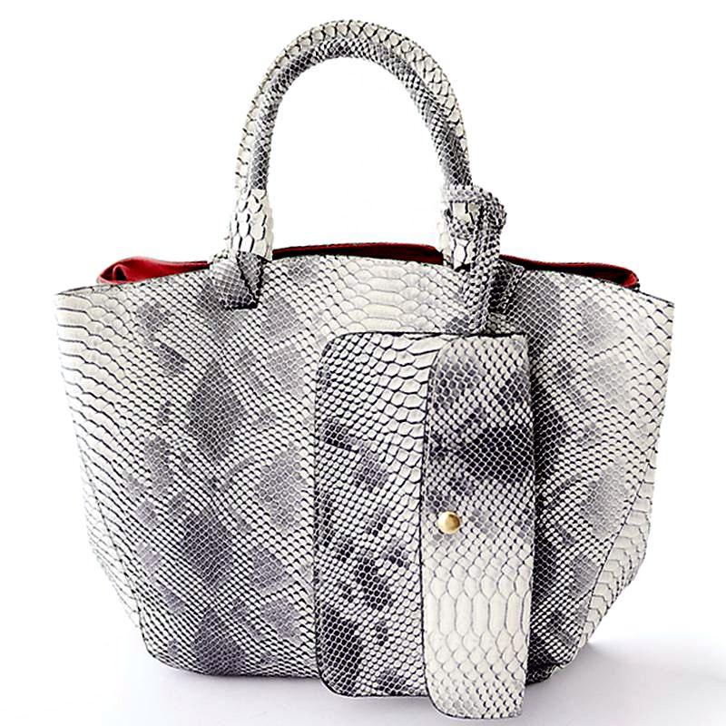 ФОТО 2017 leather bags crocodile snake skin women handbag fashion designer brand high quality shoulder bags ladies tote bag  A40-235