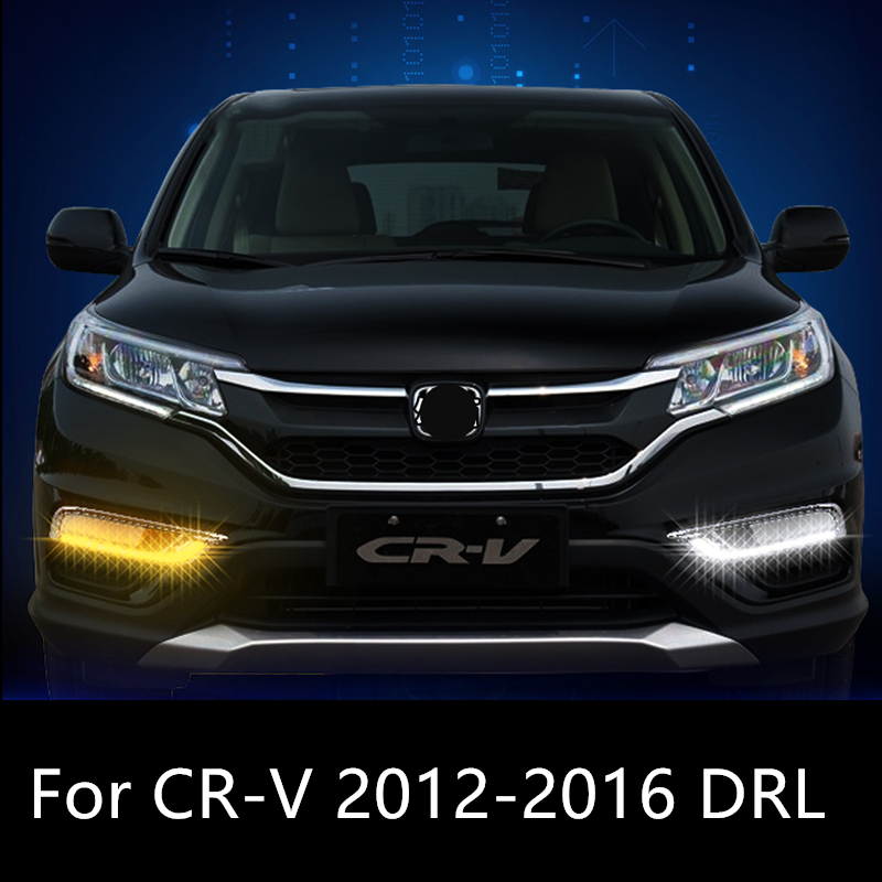 Shinman Car DRL For Honda CR-V CRV 2012 2013 2014 2015 2016 LED DRL Daytime Running Lights with yellow turn Signal lamp