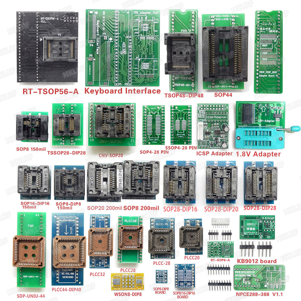 Image 5 - Original RT809H EMMC Nand FLASH Extremely fast universal Programmer +44 items WITH CABELS EMMC Nand Top Quality-in Integrated Circuits from Electronic Components & Supplies