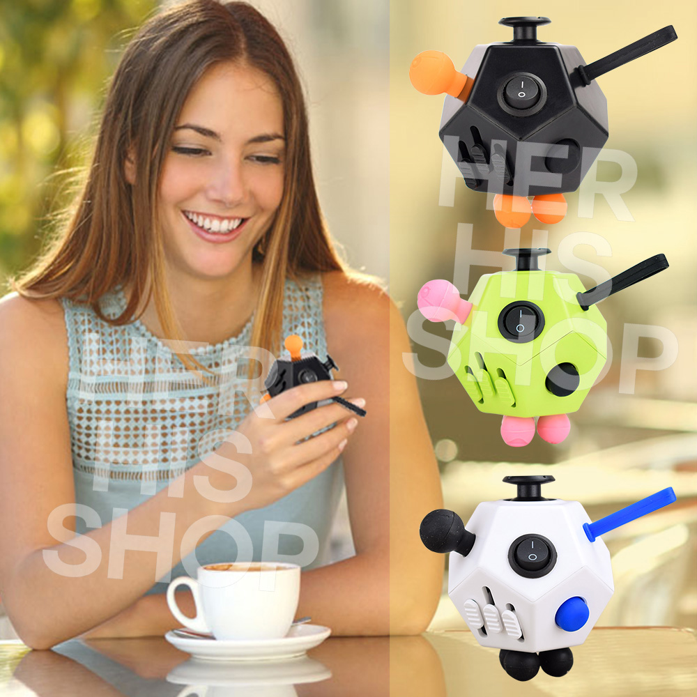 font b 2017 b font New Squeeze Fun Stress Reliever Gifts Fidget Cube 2 Relieves