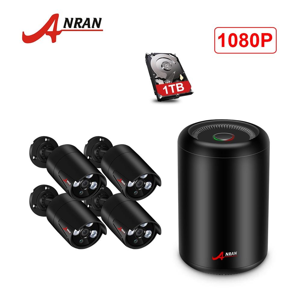 ANRAN système de caméra cctv POE 4CH kit NVR 48 V 1080 P HD NVR Système de caméra de sécurité IP Caméra Extérieure système de vidéosurveillance