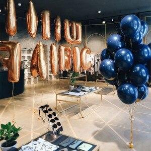 Image 4 - 10pc urodzinowe balony lateksowe atrament niebieski i przezroczysty gwiazdy balon urodziny balony helowe dekoracje ślubne