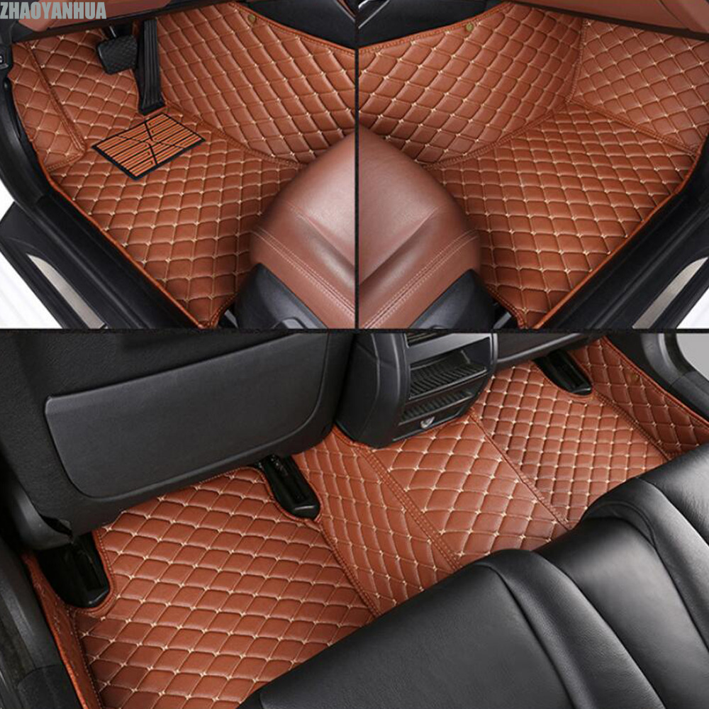 ZHAOYANHUA car floor mats for Audi Q3 Q5 Q7 A4 A6 A7 A8 8l 5D heavy duty all weather car styling rugs carpet floor liners custom fit car floor mats for dodge journey caliber 3dcar styling heavy duty all weather protection carpet floor liner ry127