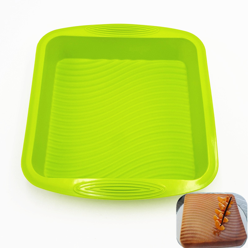 Hot Sale Big and Beautiful Square Quadrate Shape 3D Silicone Cake Mold Baking Tools For Bakeware