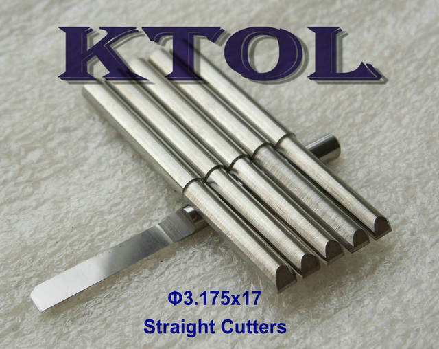 3.175x17mm One Flute Straight Router Bits Tungsten Carbide PCB Tools ...