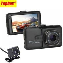 2016 Nueva Lente Dual Del Coche DVR Dashcam Cam 1080 P Full HD Registrator Grabadora de Vídeo Con Cámara de Vista Trasera de Copia de seguridad G-Sensor WDR