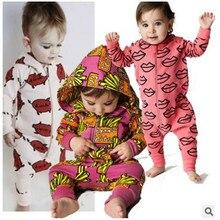 Ins hot style automne nouveau nouveau-né de bébé infantile enfants usure coton frites même grimper vêtements salopette costume