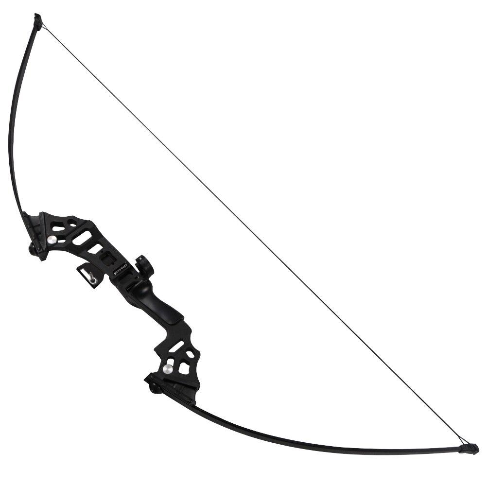 40lbs arc de pêche en aluminium recurve arc long arc droit pour démarreur - 4