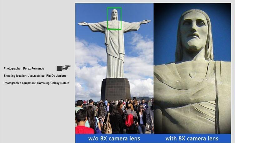Elecguru Universal 8X Optical Zoom Telescope Camera Lens with Mini Tripod Holder for Mobile iPhone Samsung Galaxy S5 I9600 10