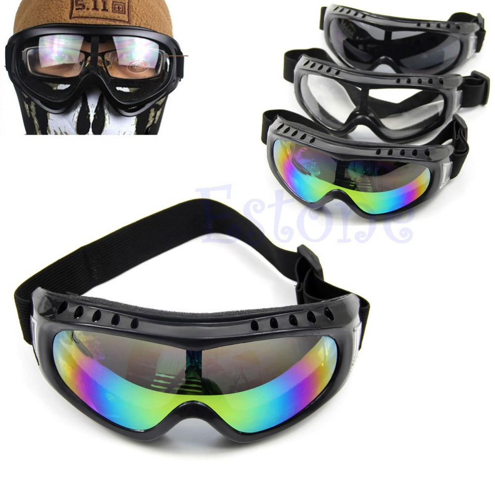 Coated Safety font b Skiing b font Goggles Outdoor Sport Dustproof Sunglass Eye Glasses New