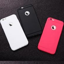 купить Soft Thin Phone Case For iphone 6 S Case For iphone 7 8 6S 7Plus 6Plus 8Plus 5 5S SE X XS Silicone Cover Black Red White Cases по цене 69.69 рублей