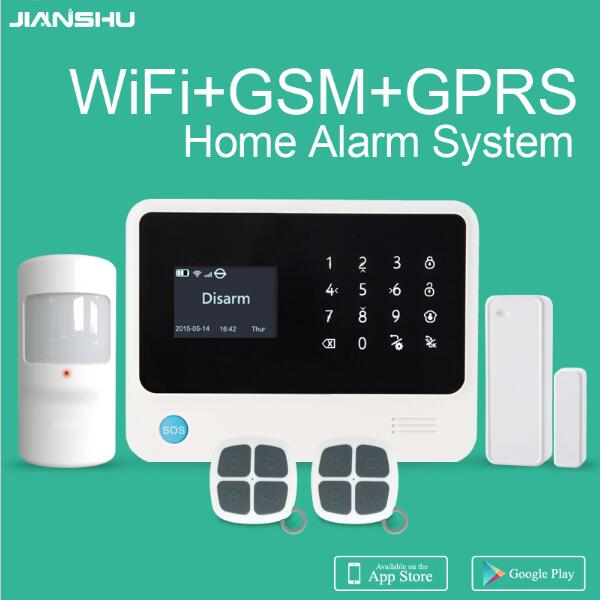Russian Language G90B plus GSM Wifi home alarm system 433mhz APP control intruder alarm work with IP cameras smart alarm