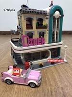 Hot City Street View Downtown diner Building Block официант Кук цифры Кабриолет Винтаж автомобилей кирпичи 10260 игрушки для детей Подарки
