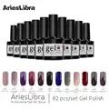 AriesLibra 82PCS Gel Polish Varnish Set Nail Art DIY Soak off LED UV Nail Gel Polish Long lasting Manicure Colorful Lacquer