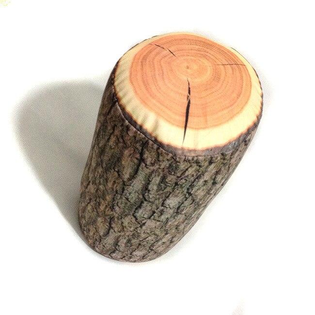 Cosy Holz Log Kissen travesseiro Baumstumpf Holz Textur Werfen almofada reise hals körper kissen In Die Auto Schmücken 17x38 cm