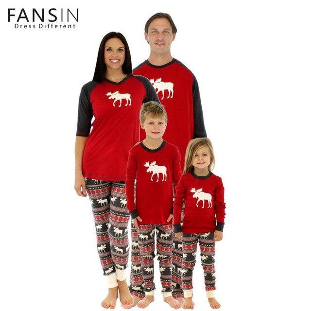 Fansin Marca De Ropa A Juego Ciervos Navidad Camiseta Pijamas