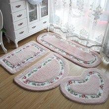 40*60 см, все формы, 5 видов цветов, Нескользящие коврики для ванной, коврик для ванной комнаты, ковры для ванной комнаты, туалета, гостиной, спальни, напольный коврик