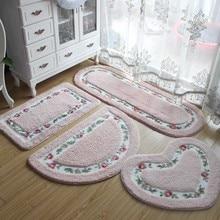 40*60CM Semi-circle Square and Oval Shape Multicolor Anti-slip Soft Bath Bathroom Bedroom Room Floor Mat Rug Carpets