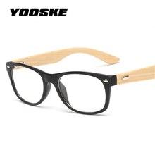 Wood Eyeglasses Lens Myopia Prescription Optic Transparent Vintage Women Rivet Bamboo