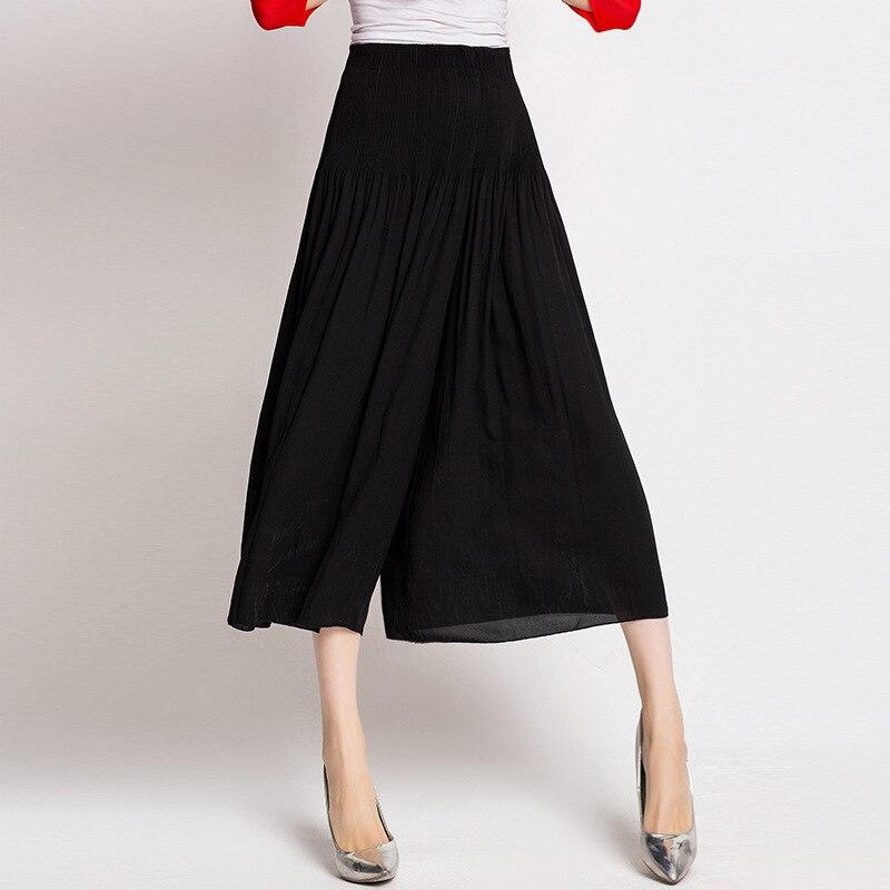 Miyake Europeo Alta Blue Sólido royal Black Colour Americano Diseño Y Color gama De Otoño Plus Pliegues Alta Cintura Tamaño Pantalones caramel Mujer Original green wOcvqfp0