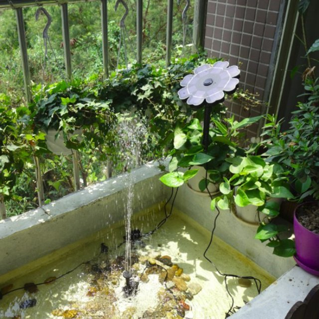 Bomba Solar flotante bomba de agua fuente Solar para estanque de jardín Kit de Panel de fuentes automáticas para piscina de riego SUMERGIBLE