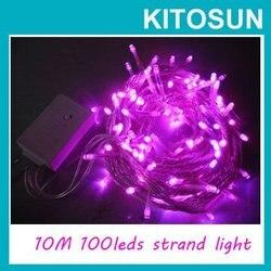 بيع 10M 100 LED سلسلة أضواء LED عيد الميلاد ضوء 220/110V 8 يعرض إضاءة زينة الحفلات