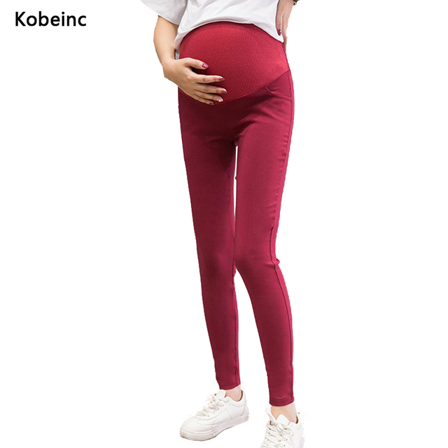 Уход Беременных Живота Брюки 6 Цветов Панталони Premama Эластичный Карандаш Брюки Для Pregnany Женщины All-согласованные Roupa Gestante