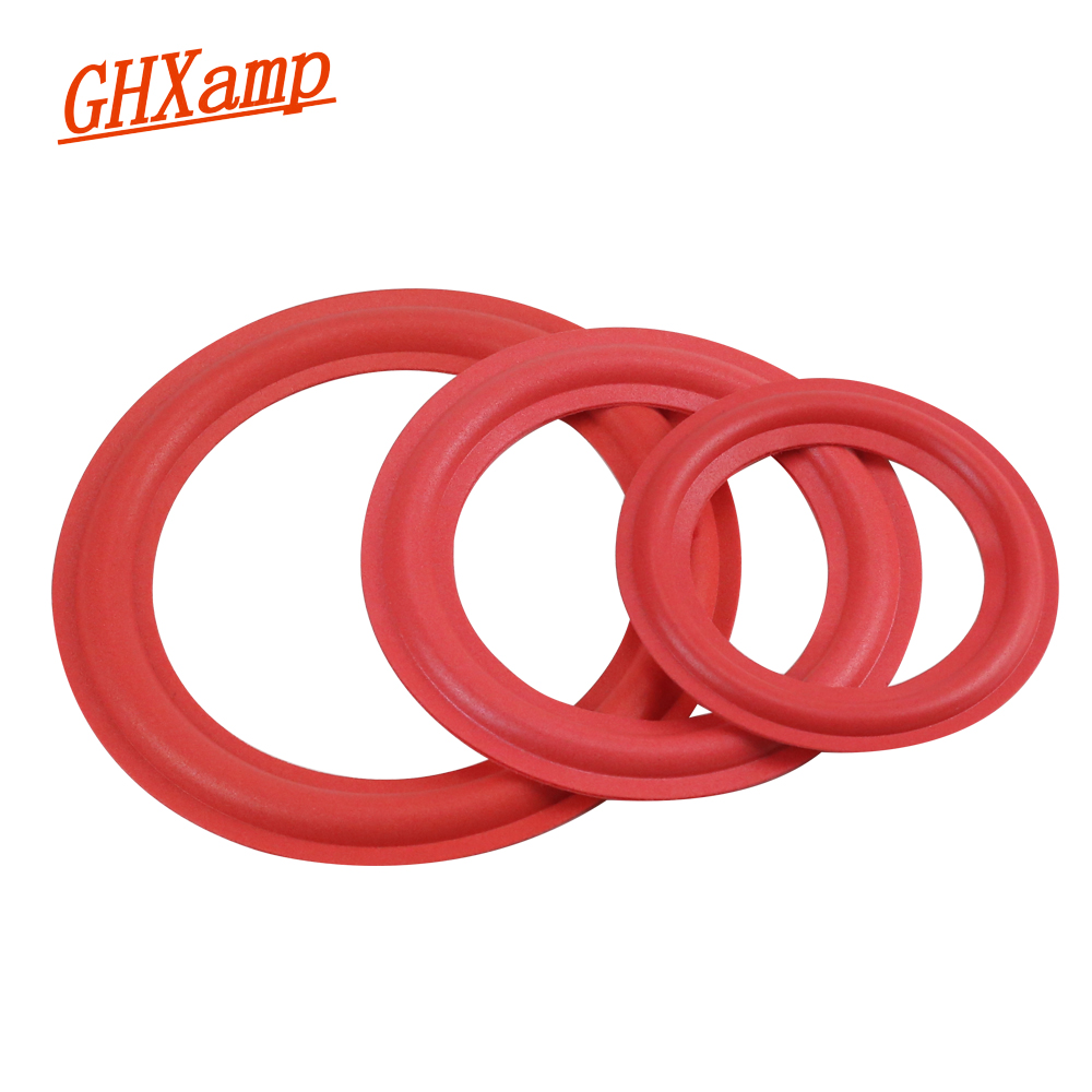 GHXAMP 2PCS Red 4 INCH 5 INCH 6.5 8 INCH Subwoofer Speaker Foam Surround Woofer Speaker Repair Accessories DIY Ring Suspension