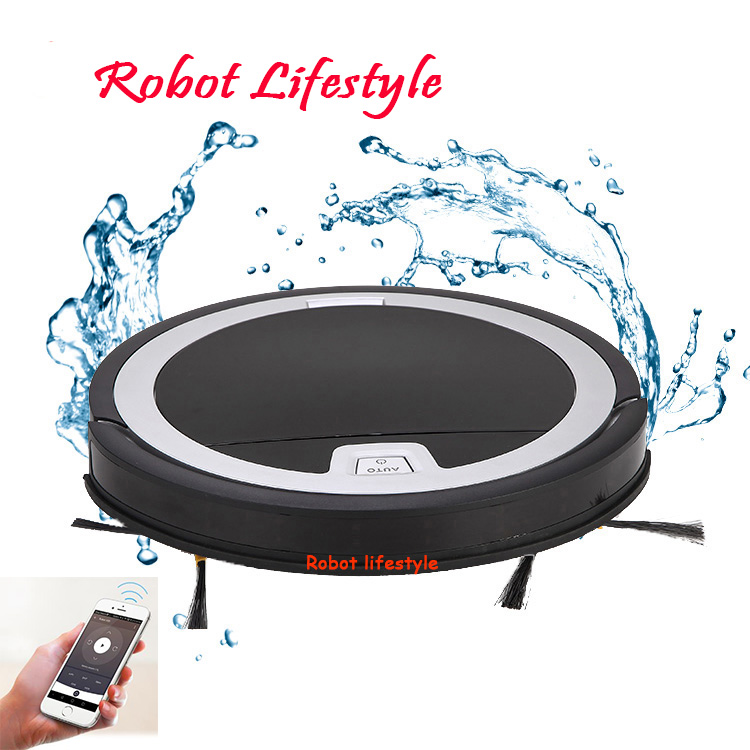 Ultra thin but powerful APP control smart water filtration cyclone vacuum cleaner list RL-KRV310 liectroux x5s robotic vacuum cleaner wifi app control gyroscope navigation switchable water tank