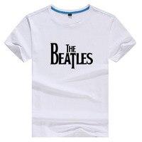 Rock Music The Beatles High Quality Cotton Tee White Short Sleeve Tshirt Women Tee Harajuku T