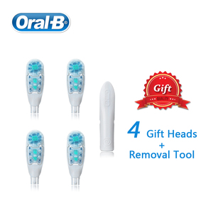 Image 2 - אוראלי B חשמלי מברשת שיניים צלב פעולה כפולה סיבוב ורטט AA סוללה כוח 1 מברשת ידית + 4 להחלפה מברשת ראשי