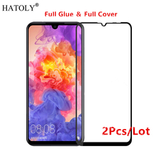 2Pcs Huawei P30 Lite Glass Tempered for Film 9H Full Glue Cover Screen Protector