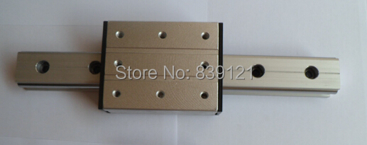 High Speed Linear Guide Roller Guide External Dual Axis Linear Guide LGD12 With Length300mm With LGD12 Block 100mm Length