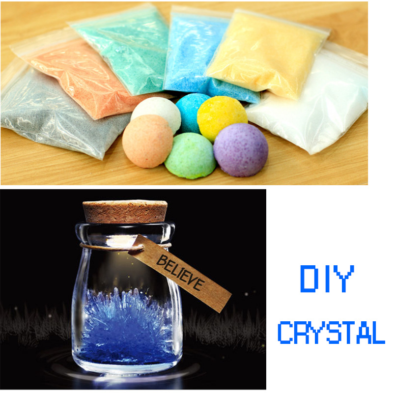 DIY Crystal Raw Material 6 Colors Choose Hand-made Crafts Lucky Wishing Bottle Need Clear Cork Stopper Glass Creative Gifts