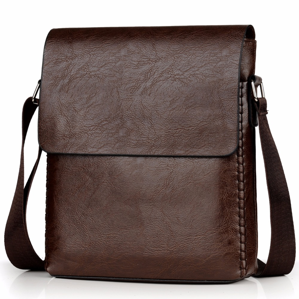 Crossbody Bags For Men PU Leather Shoulder Bag Male Casual Simple Knitting Messenger Bags Men's High Quality Business Hand Bag 6