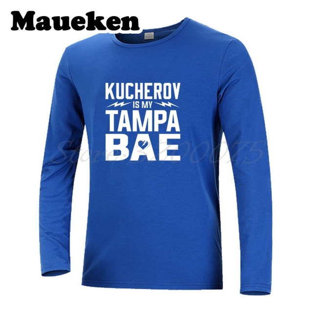the best attitude f6890 acff2 US $18.6 15% OFF|Long Sleeve Men Nikita KUCHEROV 86 IS My Tampa BAE From  Russia with Love 086 Tampa Bay T Shirt T Shirt Men's W17101206-in T-Shirts  ...