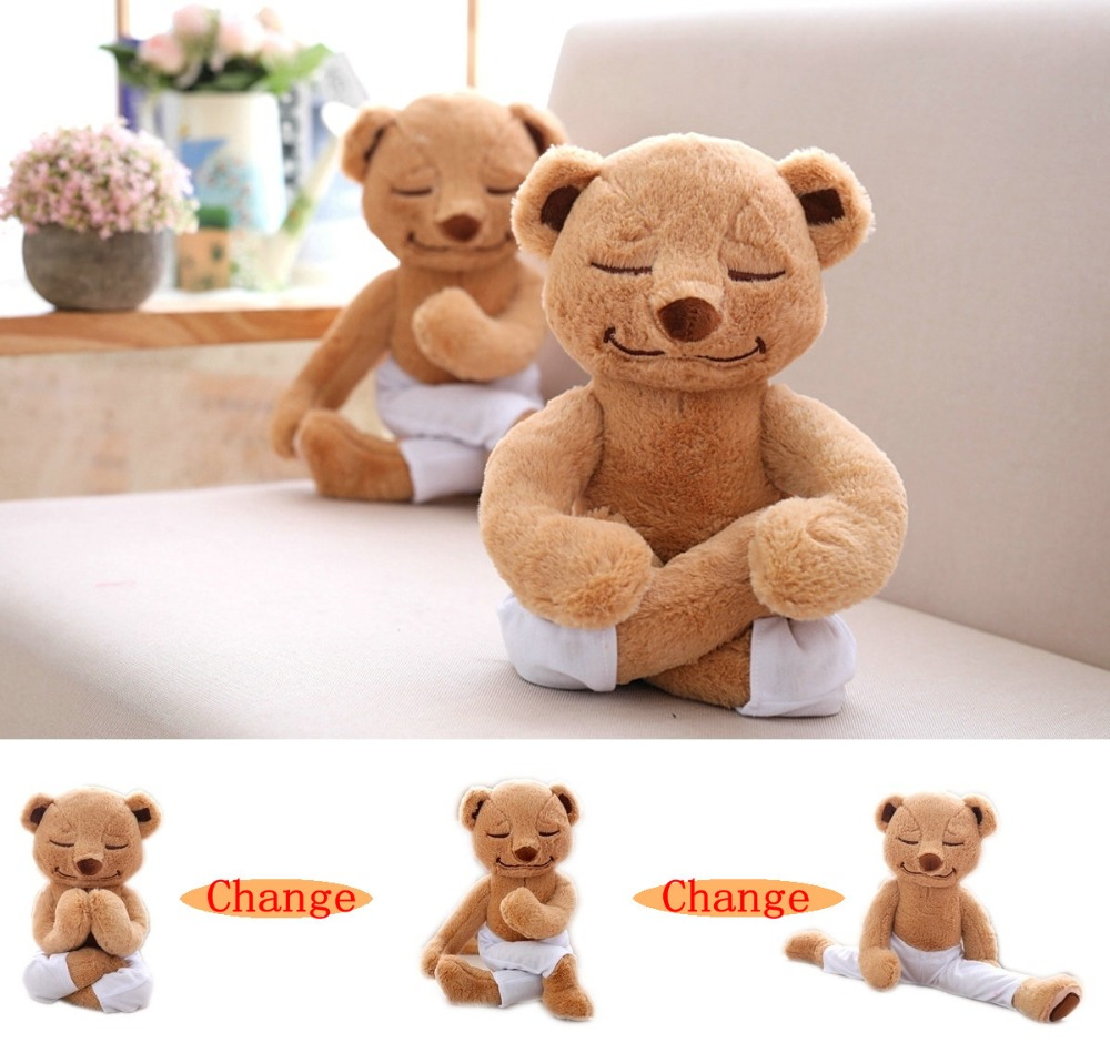 Rod End Twisting Legs Yoga Teddy Bear Plush Toy Creative KungFu Bear Doll Soft Animal Kids Toys Birthday Gift For kids Friends fancytrader biggest in the world pluch bear toys real jumbo 134 340cm huge giant plush stuffed bear 2 sizes ft90451