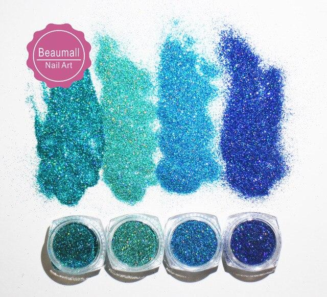 2g/pot, 0.2mm 008 Size Holographic Glitters Laser Powder Glitters Chrome Pigments Glitter Dusts For Nail ,Tatto Art Decorations