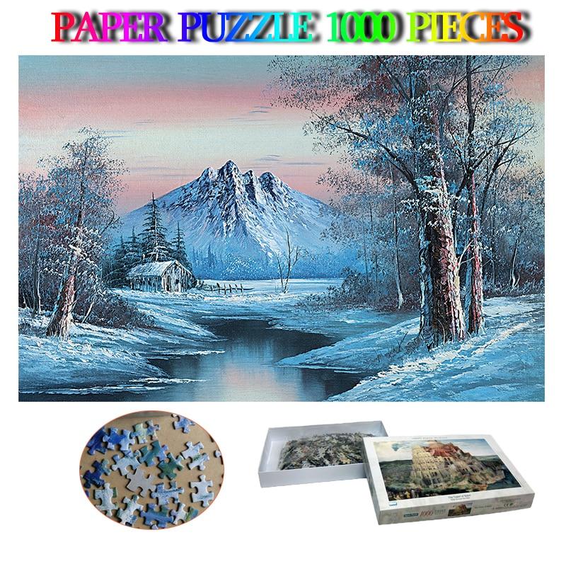 Paradis des neiges 1000 pièces papier Puzzle adultes paysage Puzzle 1000 pièces pour enfants famille adultes jouets décor à la maison