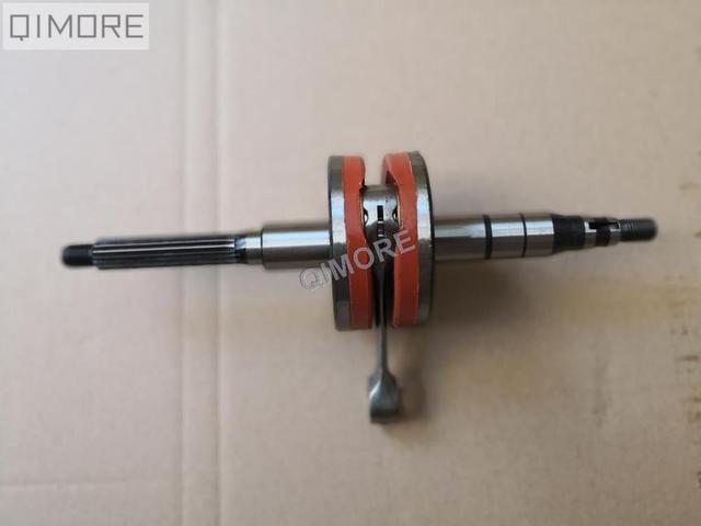 US $45 0 |+2mm Stroker Performance Crankshaft (for 10mm piston pin) for 2  stroke 50cc Scooter ATV Minarelli JOG50 3KJ 1E40QMB 1PE40QMB -in  Crankshafts