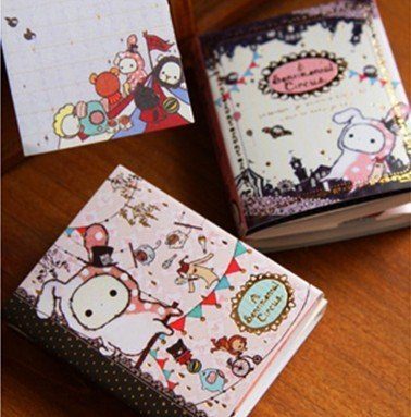 10pcs/lot Freeshipping! Lovely Rabbit Notepad Memo Pads 6 fold note memo Writing scratch pad note sticker/Korean style/Wholesale