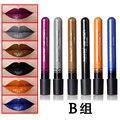 2016 New Sexy Matte Waterproof Lip Gloss Long Lasting Matte Lipstick black blue gray saffron yellow  Lip Liquid Pencil