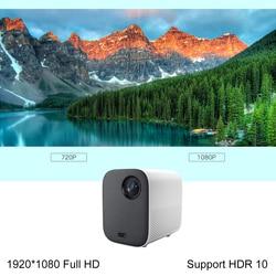 Xiaomi Mijia przenośny mini projektor zamontować projekcji projektor 1080 p 500 lumenów ANSI MIUI TV HDR10 2.4G/5 WiFi dla kina domowego 3