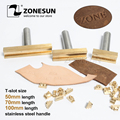 ZONESUN 5/7/10cm T-slot Alphabet Numbers Symbol Leather Stamping Cold Press Tool Brand Iron Custom Initial Mould Embossing Mold