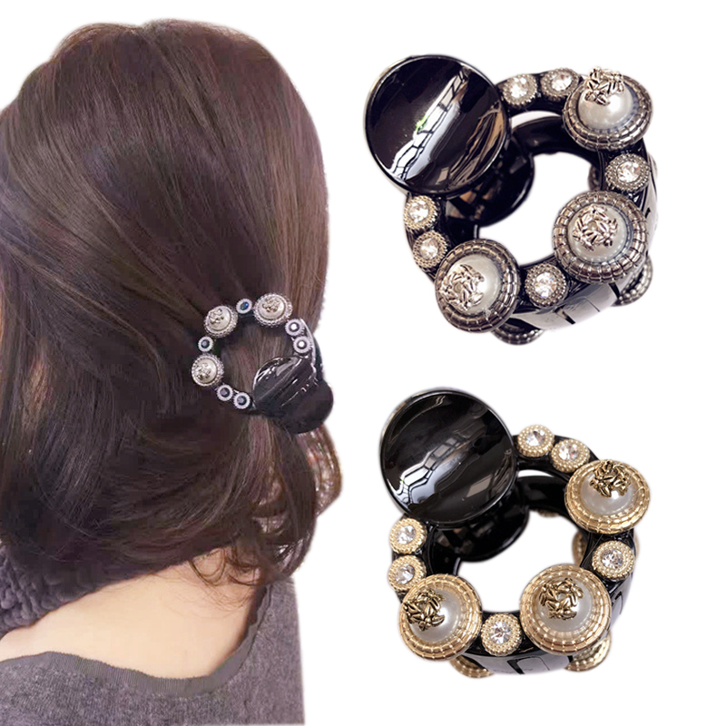 Fashion Girl Retro Baroque Hair Claws Beam Hairpin Women Hair Accessories Beauty Hair Crab Clamp Headwear Small Hair Clip