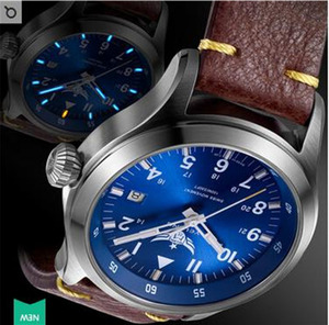 Image 4 - Часы Yelang Мужские кварцевые в стиле милитари, триций T100 Ronda Move t, литиевая батарея, авиаторы WR100M, сапфировые, из натуральной кожи